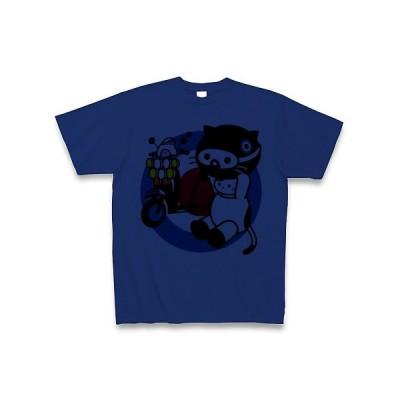 MODSバイクとねこ Tシャツ(ロイヤルブルー)