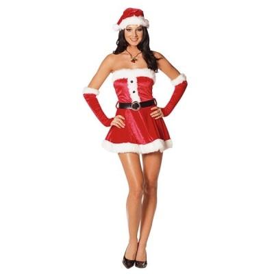 クリスマス サンタクロース 衣装 、コスチューム 大人女性用 ベアトップ セクシー SWEETIE