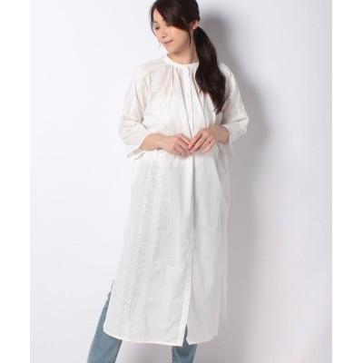 【コエ】 カットワーク刺繍シャツワンピース レディース オフホワイト F koe