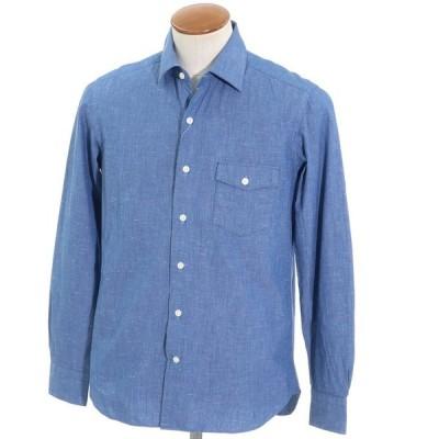 ダーバン D'URBAN コットン カジュアルシャツ ブルー M