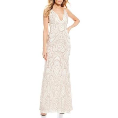 ジャンプ レディース ワンピース トップス Spaghetti Strap Glitter-Pattern Long Dress