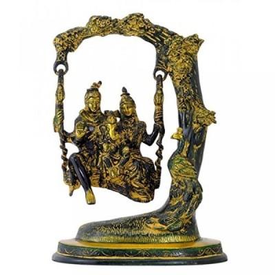 インテリア 真鍮製ガネーシャ像と Gangesindia 神カップル シヴァ Parwati