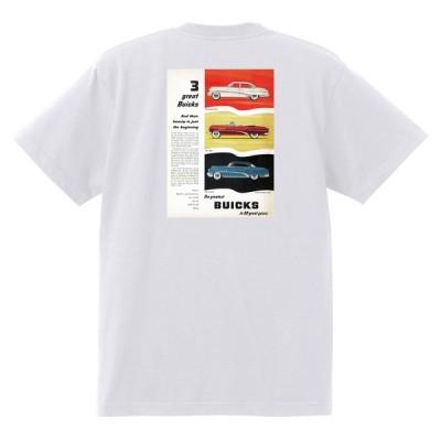 アドバタイジング ビュイック 303 白 Tシャツ 黒地へ変更可能   1953 スーパー リビエラ センチュリー ロードマスター オールディーズ