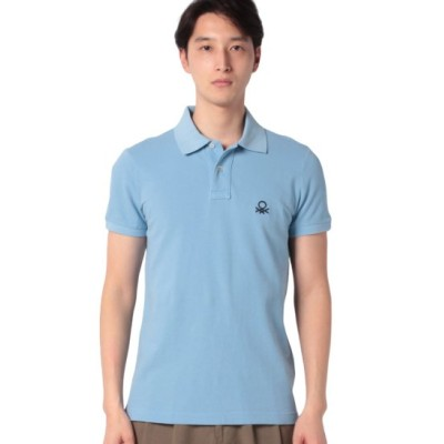(BENETTON (mens)/ベネトン メンズ)スリムフィットポロシャツ/メンズ ライトブルー
