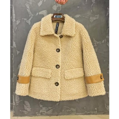 人気 フェイクファー 女性  おしゃれ ショートコート上着 ジャケット アウター 暖かい 冬物 レディース オフィス OL 通勤 防寒 毛皮コート