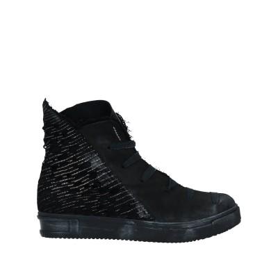 PAPUCEI ショートブーツ ブラック 39 紡績繊維 / 革 ショートブーツ