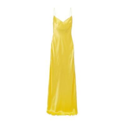 RASARIO シルクドレス  レディースファッション  ドレス、ブライダル  パーティドレス イエロー