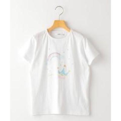 シップスSHIPS KIDS:パステル ラメ プリント TEE(140~150cm)【お取り寄せ商品】
