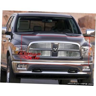 グリル Fits 2009-2012ダッジラム1500ピックアップペリCNCカットグリルインサート Fits 2009-2012 Dodge Ram 1500 Pickup Perimeter CNC Cut Grille I