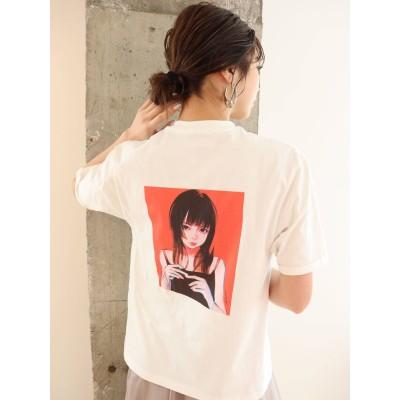 【公式】MURUA(ムルーア)【MURUA×古塔つみ】ロングヘアガールTシャツ