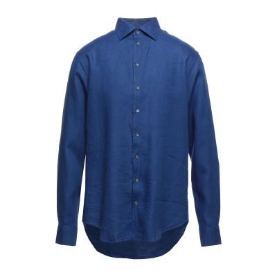 ジョルジオ アルマーニ GIORGIO ARMANI シャツ ブルー 40 リネン 100% シャツ