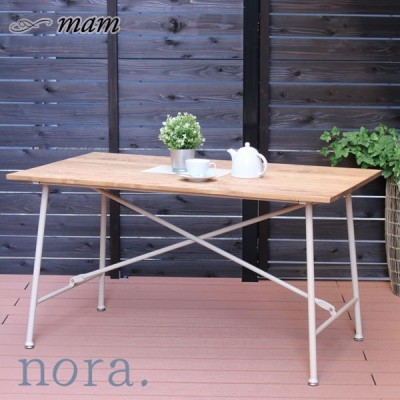 nora. mam マム メイス 130テーブル BKNA/WHNA