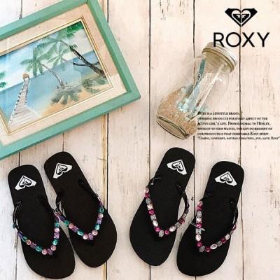 ロキシー ビーチサンダル ビジュー レディース プレゼント 通販 人気 ブランド 可愛い ブラウン ブラック 茶 黒 23cm 24cm ビーチ リゾート ROXY RSD191318