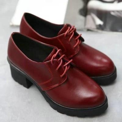 シューズ レディース オックスフォード レースアップ ポインテッド 靴 ローヒール パンプス おしゃれ カジュアル シンプル ぺたんこ 通勤靴 通学靴 紐靴 美脚
