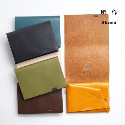 所作 shosa ショートウォレット1.0 三つ折り財布 本革 レザー basic 日本製 メンズ レディース