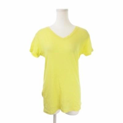 【中古】プラステ PLST Tシャツ カットソー Vネック 半袖 2 黄 イエロー /KI18 ☆ レディース