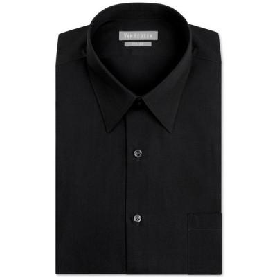 ヴァンハウセン メンズ シャツ トップス Men's Athletic Fit Poplin Dress Shirt