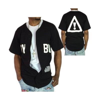 HDY BYZ ベースボールシャツ ブラック メンズ 半袖 ●TS857●一万円以上送料無料