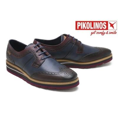 ピコリノス / PIKOLINOS メンズ カジュアルシューズ m8p-4009c1dbr ドゥルカル/外羽根ウィングチップ ダークブラウン