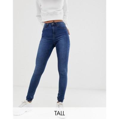 ノイズィーメイ Noisy May Tall レディース ジーンズ・デニム ボトムス・パンツ high waisted skinny callie jeans in mid blue wash Blue