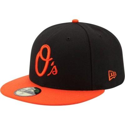 ニューエラ New Era メンズ キャップ 帽子 Baltimore Orioles 59Fifty Alternate Black Authentic Hat