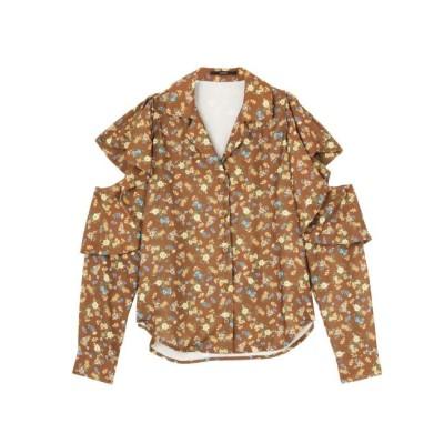 【エモダ/EMODA】 オープンカラーフリルシャツ