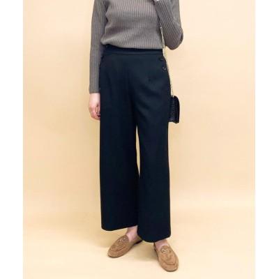 【フレディアンドグロスター】 ポケット釦セミワイドパンツ レディース ブラック 36 FREDY&GLOSTER