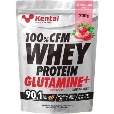 ケンタイ 100%CFMホエイプロテイン グルタミンプラス スーパーデリシャス ストロベリー風味 700g kentai 健康体力研究所 KTK-K222