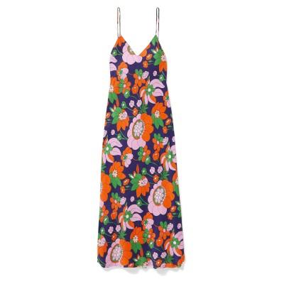 ドド・バー・オア DODO BAR OR ロングワンピース&ドレス パープル 44 シルク 100% ロングワンピース&ドレス