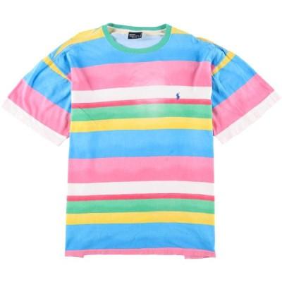 90年代 ラルフローレン ボーダーTシャツ USA製 XL /eaa063248