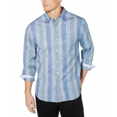 Tommy Bahama トミーバハマ ファッション アウター Tommy Bahama Mens Shirt Blue Size 3XL Button Down Hibiscus Mirage
