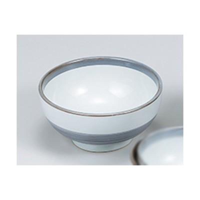 丼 和食器 / グレー巻 6.3京碗 寸法:18.8 x 9.4cm
