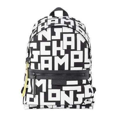 ロンシャン リュックサック BACKPACK M 1119 413 067 ブラック 黒/ホワイト 白