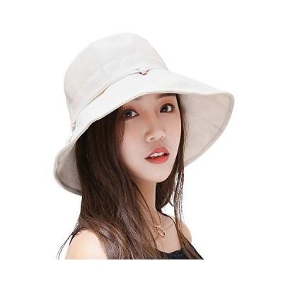 レディースハットバイザー 帽子 キャップ レディース ワイヤ入り 紫外線対策 UVカット折りたたみ 日よけ 人気