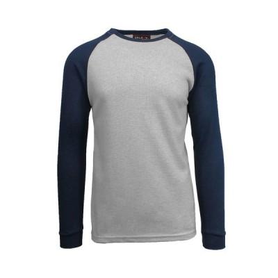 ギャラクシーバイハルビック Tシャツ トップス メンズ Men's Long Sleeve Thermal Shirt with Contrast Raglan Trim on Sleeves Heather Gr