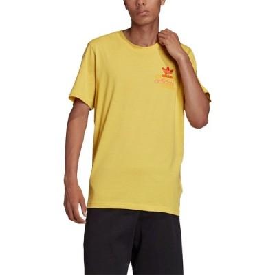 アディダス シャツ トップス メンズ adidas Men's Shattered Embroidered T-Shirt CoreYellow
