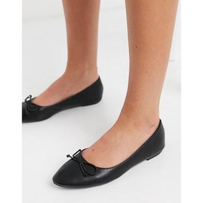 トリュフコレクション Truffle Collection レディース スリッポン・フラット シューズ・靴 Easy Ballet Flats In Black ブラック