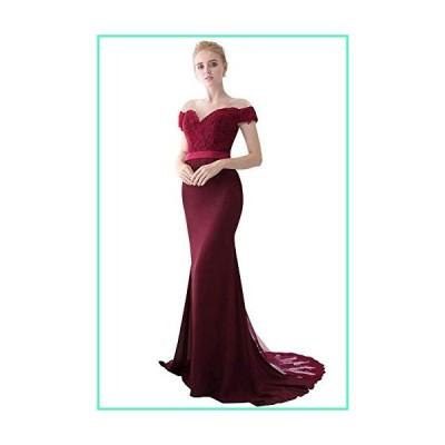 Women's Retro Long Mermaid Evening Gowns Formal Homecoming Prom Dress Bridesmaid Wine Red並行輸入品