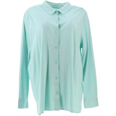 レディース 衣類 トップス Martha Stewart Luxe Cotton Button Front Blouse Women's A351518 Tシャツ
