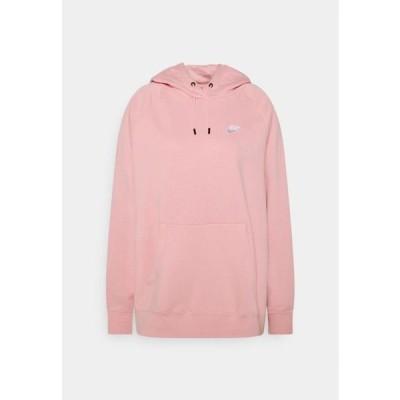 ナイキ レディース ファッション HOODIE PLUS - Hoodie - pink glaze/white