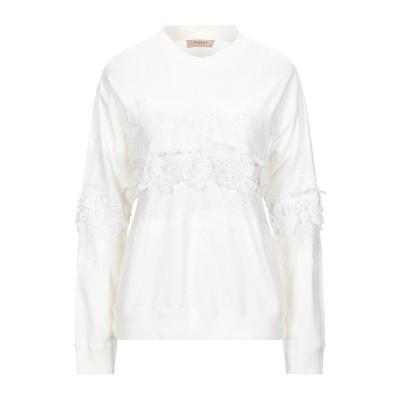 ツインセット シモーナ バルビエリ TWINSET スウェットシャツ アイボリー L コットン 100% / ナイロン スウェットシャツ