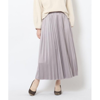THE SHOP TK(Women)(ザ ショップ ティーケー(ウィメン)) スエードタッチプリーツスカート