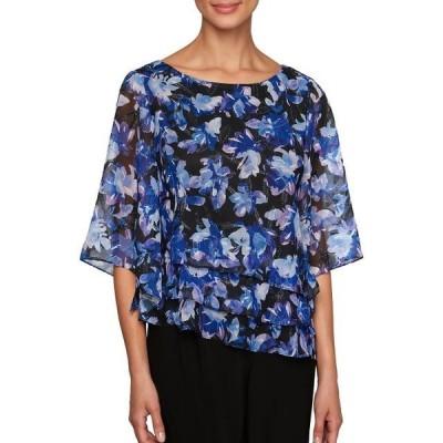 ユニセックス 衣類 トップス Floral Three-Quarter Sleeve Top ブラウス&シャツ