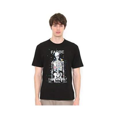 (グラニフ) graniph Tシャツ/ドリッピング スカル (ブラック) メンズ レディース S (g100) (g107)