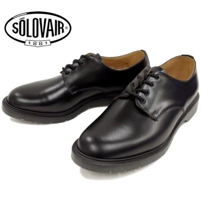 ソロヴェアー SOLOVAIR 4-996 4 EYE SHOE ブラック プレーン シューズ オックスフォード
