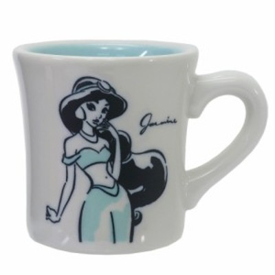 アラジン マグカップ 磁器製 スケッチ マグ ジャスミン ディズニープリンセス キャラクター グッズ