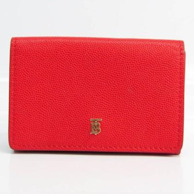 バーバリー レディース レザー 財布(三つ折り) レッド