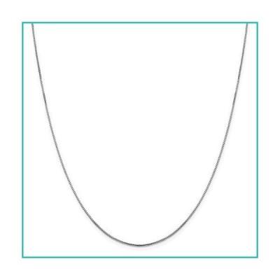 特別価格Solid 10K White Gold .95mm Oct. Sparkle Box Chain Necklace - with Secure Lo好評販売中