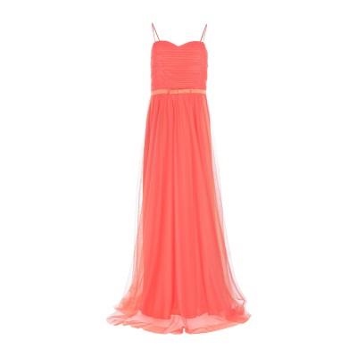 SANDRO FERRONE ロングワンピース&ドレス コーラル 44 ポリエステル 100% ロングワンピース&ドレス