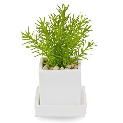 フェイクグリーン 人工観葉植物 造花 ミニ ミリオン エコストーン 皿付ミニベース GREENPARK PRGR-0997E